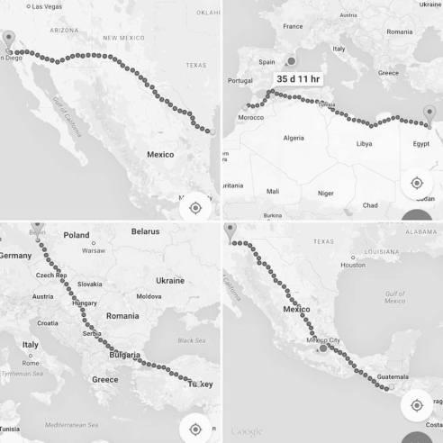Cartografía de las fronteras. Diario de  campo, Roxana Rodríguez Ortiz, 2016.
